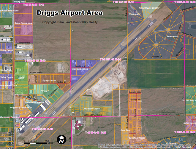 Driggs Airport Map - Click To Enlarge