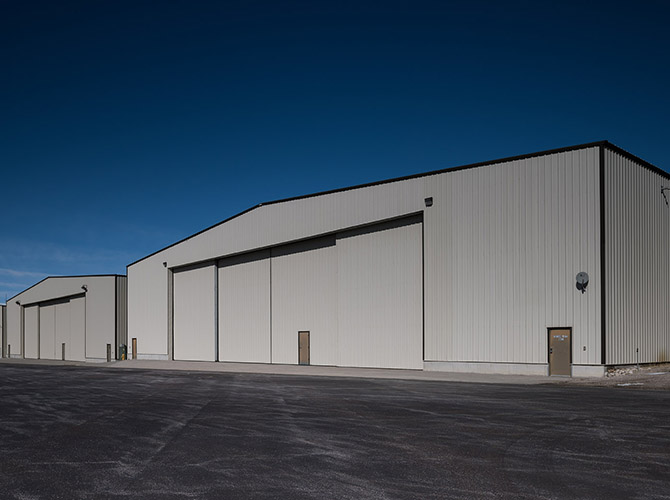 Corporate Aircraft Hangar Driggs Reed Memorial Airport